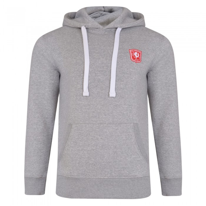 FC Twente Adult Grey Overhead Hooded Sweat