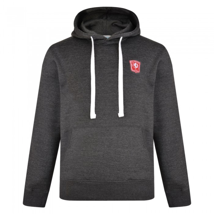 FC Twente Adult Charcoal Overhead Hooded Sweat