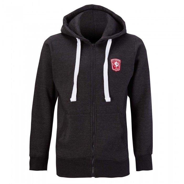 FC Twente Adult Charcoal Full Zip Hooded Sweat