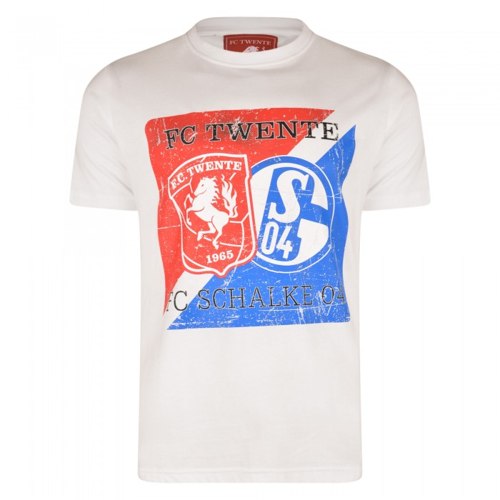 FC Twente White 25 Years Friendship T-Shirt