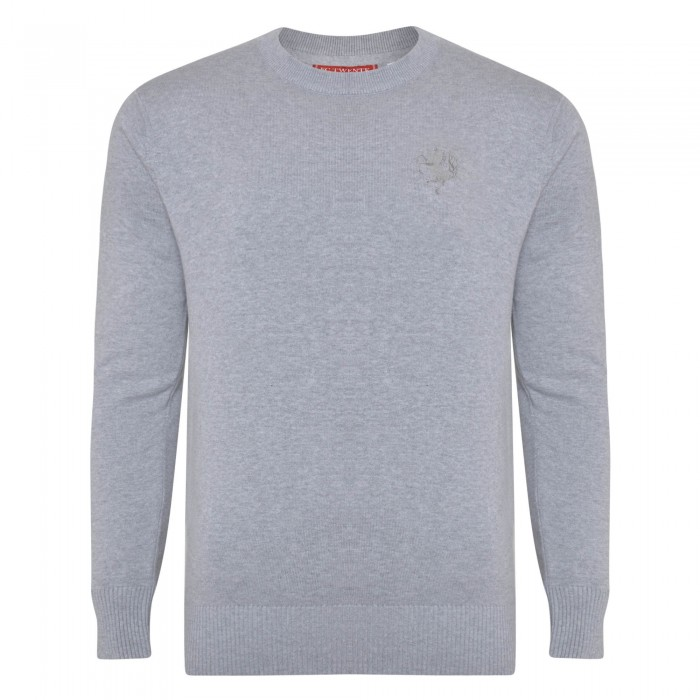 FC Twente Grey Knitted Crew Neck Jumper - Adult